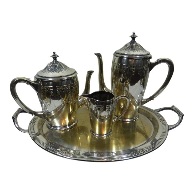 1900s Art Nouveau WMF Coffee/Tea Set - Image 1 of 11
