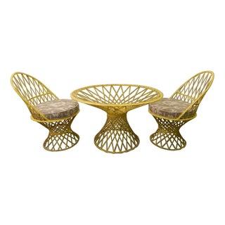 Vintage Yellow Spun Fiberglass Patio Set