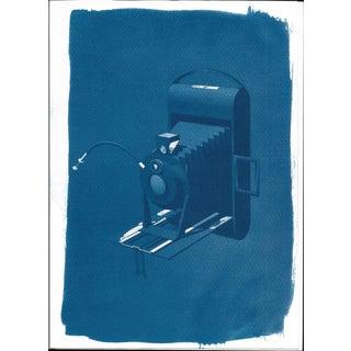Cyanotype Print - Vintage 4 x 5 Camera