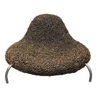 Contemporary Woven Wicker Chair