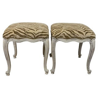 Carved Italian Stools - A Pair
