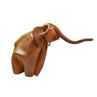Leather Elephant Figure by Deru