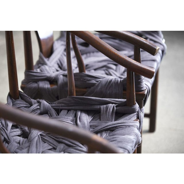 Hand-Tied Fabric Chair - Image 4 of 4