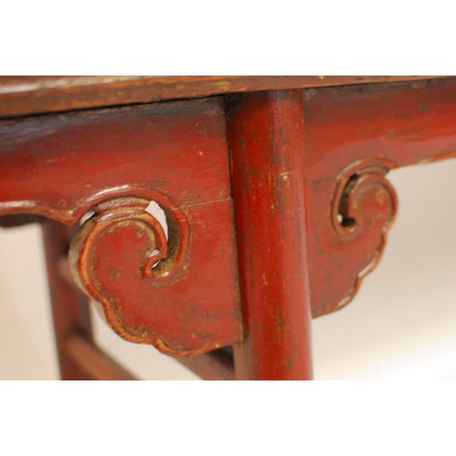 Image of Antique Chinese Carved Bench