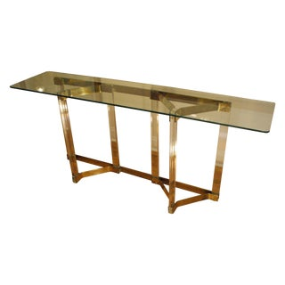 Charles Hollis Jones Lucite Console Table