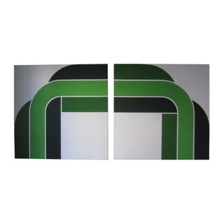 "1973 Green""Right Angle"" Serigraph Prints"