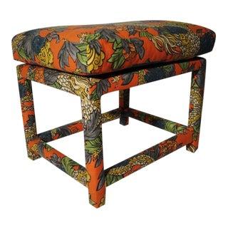 Milo Baughman Style Parsons Ottoman/Bench