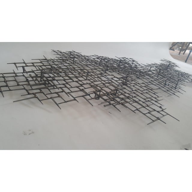 Abstract Fish Wall Sculpture Welded Nails & Bronze - Image 3 of 7