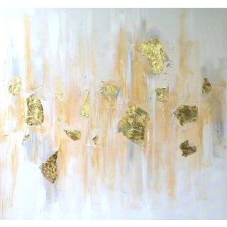 'Gold Rush' Abstract Painting by Linnea Heide