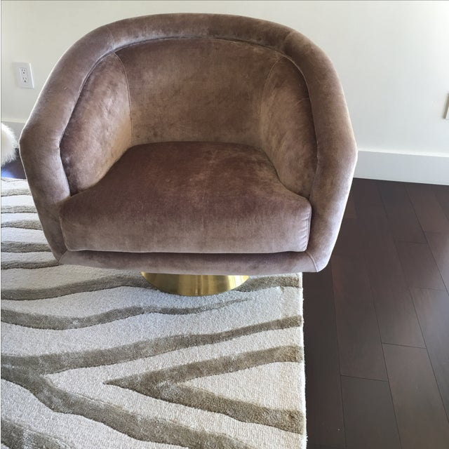 Image of Jonathan Adler Bacharach Swivel Chairs - A Pair