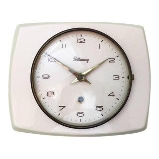 Mid-Century Ceramic Wall Clock by Pollmann, 1950s