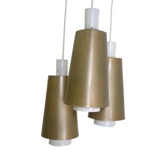 Mid Century Triple Hanging Pendant Lamps