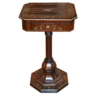 19th C. English Rosewood Sewing Table
