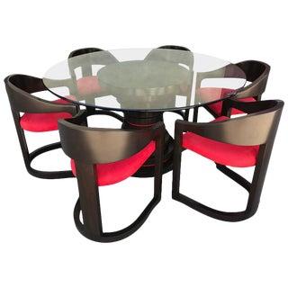Karl Springer Style Dining Set