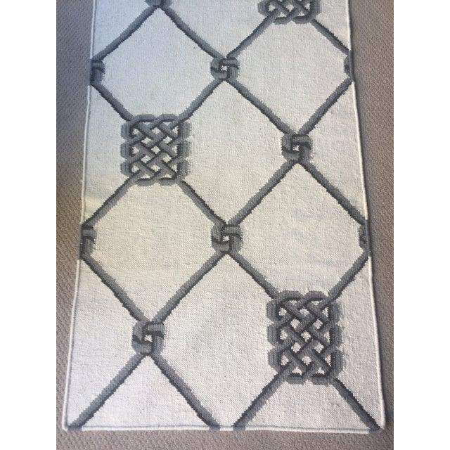 "Knot Motif Diamond Wool Runner Rug - 2'7"" X 7'11"" - Image 3 of 5"