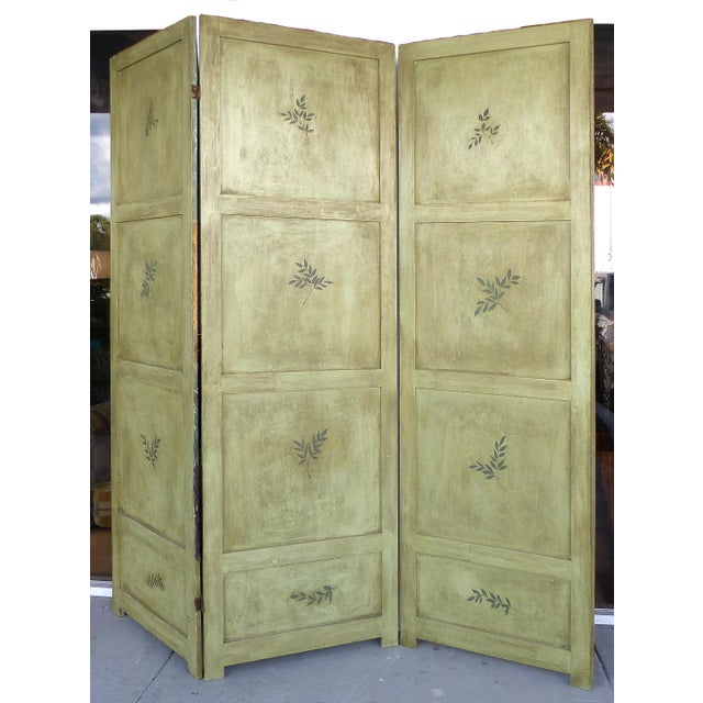 19th-C. Venetian Oil on Canvas Screen - Image 4 of 11