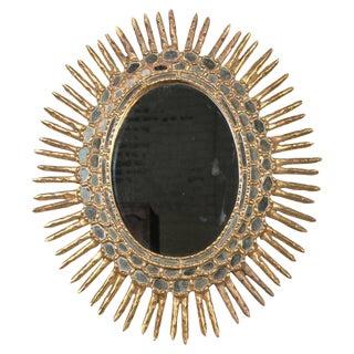 Spanish Oval Giltwood Sunburst Mirror