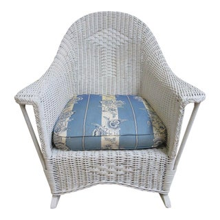 Antique Wicker Outdoor Patio Rocking Chair