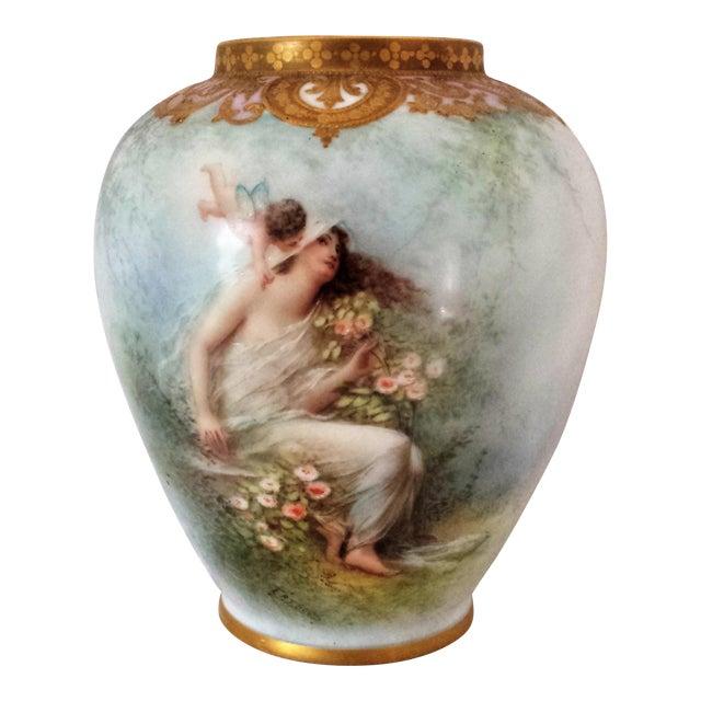 Image of Antique French Figural Gilt Vase