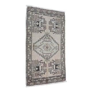 Vintage Turkish Wool Carpet - 1′9″ × 3′2″
