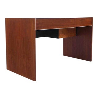 Hidden File Drawer Glenn California Mid Century Modern Walnut Writing Table Desk