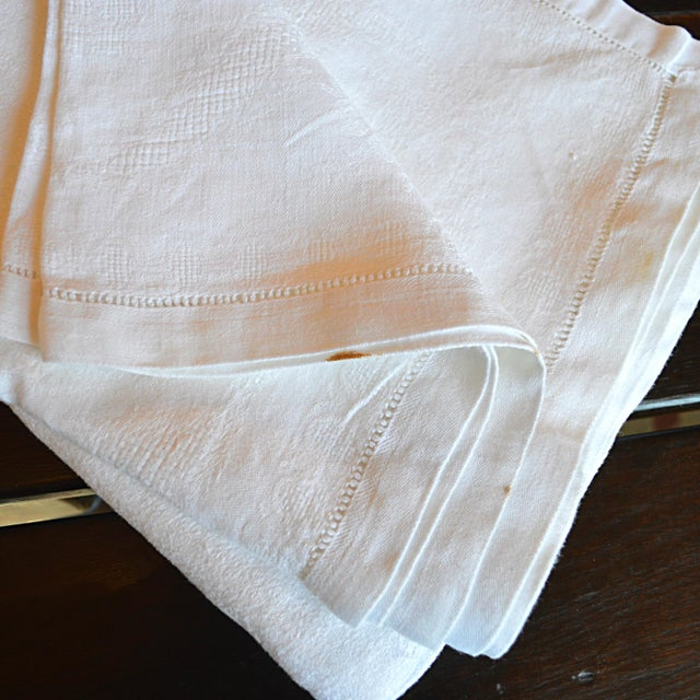 Monogrammed Antique French Table Linens - Set of 7 - Image 6 of 7