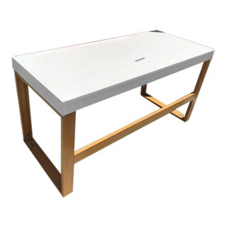 CB2 Chamber White Desk