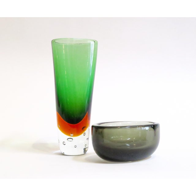 Image of Modern Murano Glass Objects - A Pair