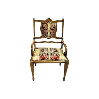 Antique Swedish Mahogany Armchair
