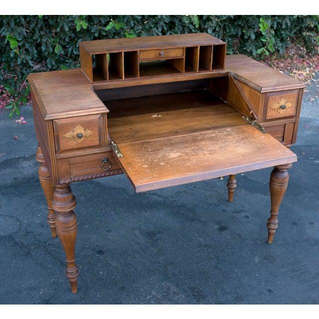 Antique grand rapids secretary desk chairish for Office design furnishings ypsilanti mi
