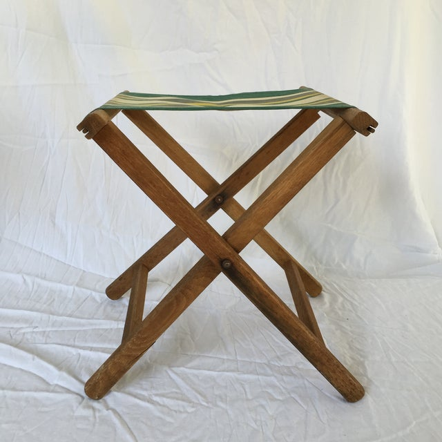 Image of 1950s Canvas Camp Stool