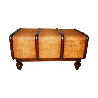 Cane Style Trunk Storage Coffee Table