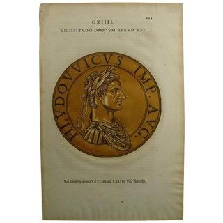1645 Roman Emperor Block Print