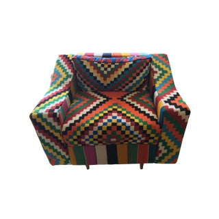 Handmade Turkish Kilim Upholstered Chair
