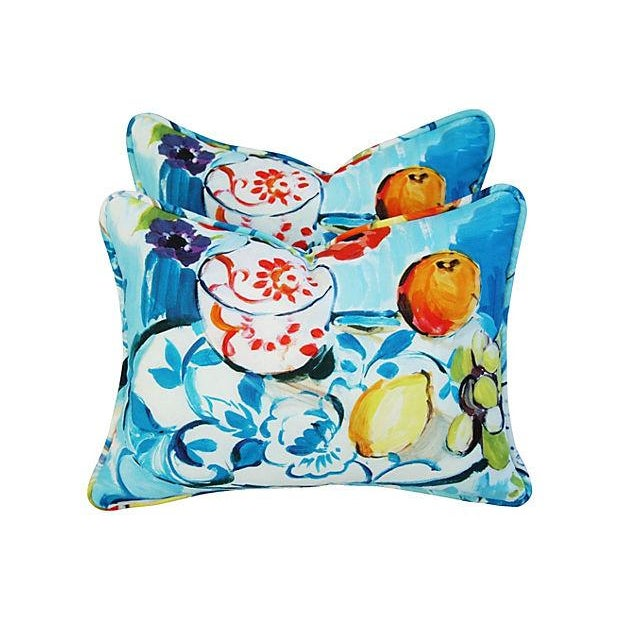 Designer Ronnie Gold Cezanne Style Pillows - Pair - Image 7 of 7