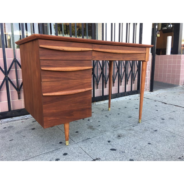 Vintage Mid-Century Wood Desk - Image 2 of 9