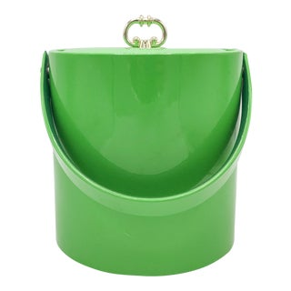 Pantone Greenery Patent Green Leather Ice Bucket