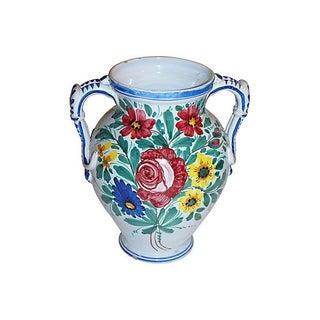 Large Italian Majolica Urn or Vase