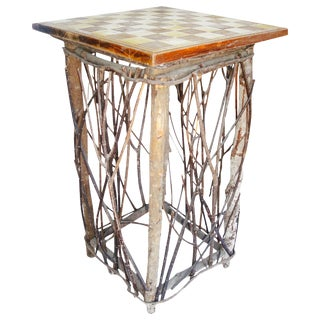 Twig Base Checkers or Chess Table