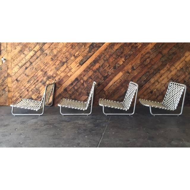 Vintage Brown Jordan Sand Chairs - Set of 4 - Image 4 of 5