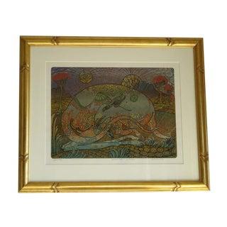 "Jesse Allen ""Mother Wallaby"" Silk Screen Print"