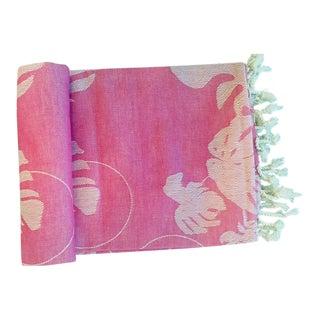 'Rio' Fuchsia Cotton Throw/Towel