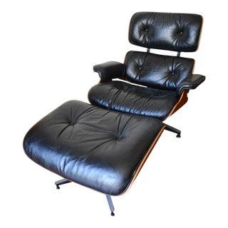Vintage Herman Miller Rosewood Eames Lounge Chair & Ottoman