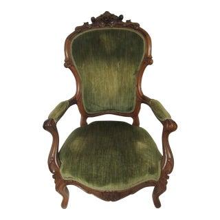 Victorian Cherry Wood Armchair