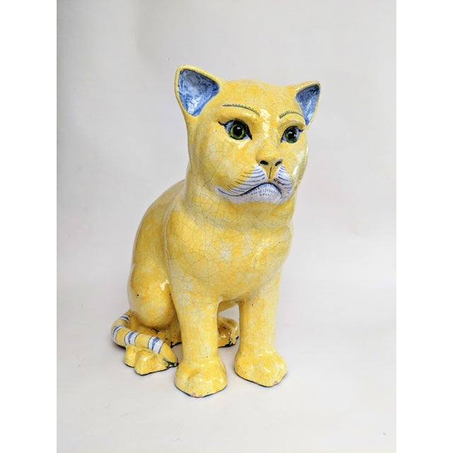 Emil Galle Style Terra Cotta Cat With Glass Eyes - Image 11 of 11