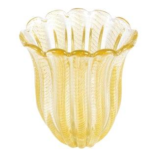 1940s Barovier Toso Murano Glass Vase