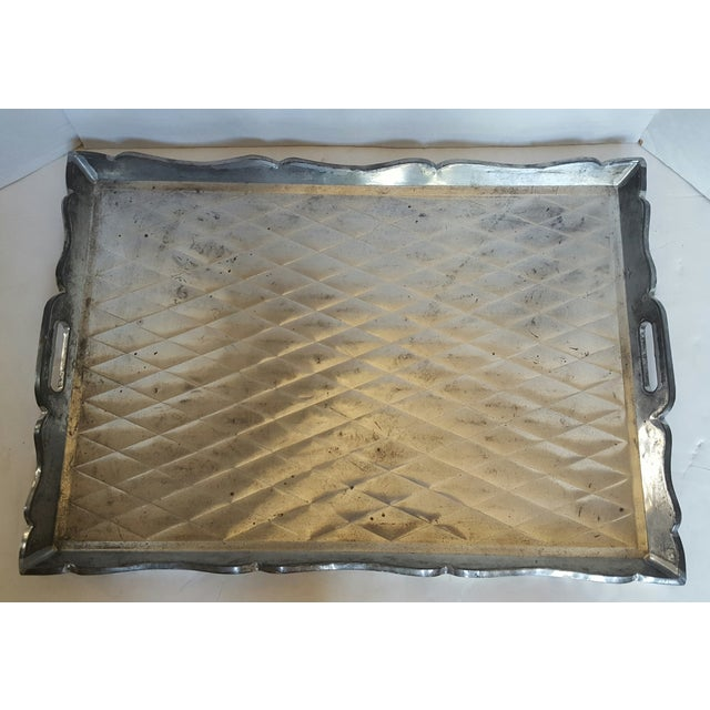 Mexican Quilted Metal Tray - Image 2 of 3