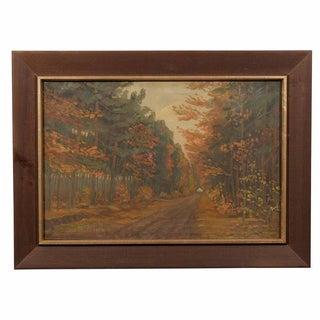 Framed Dutch Impressionist Autumn Landscape