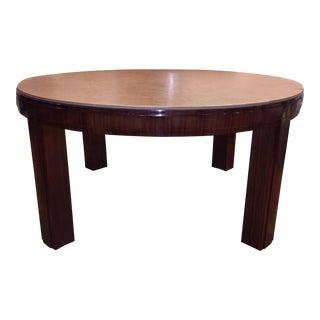 Ralph Lauren Macassar Ebony Extendable Round Dining Table