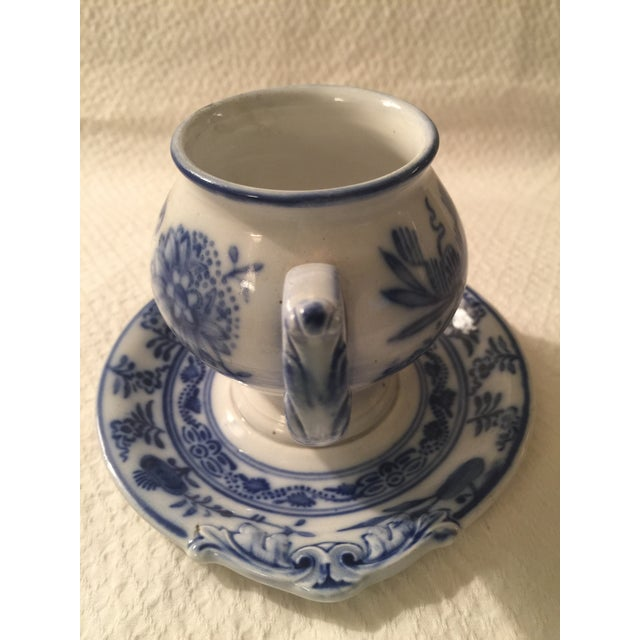Villeroy & Boch Blue & White Cup & Saucer - A Pair - Image 6 of 7
